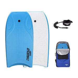 THURSO SURF Lightning 42'' Bodyboard Package PE Core IXPE Deck HDPE Slick Bottom Durable Lightweight Includes Double Stainless Steel Swivels Leash and LUX Bodyboard Bag