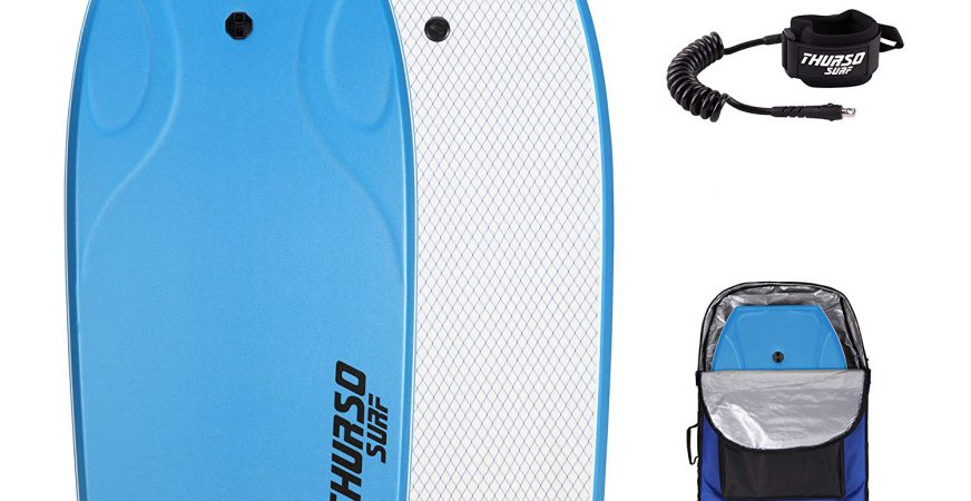THURSO SURF Lightning 42 Bodyboard Package PE Core IXPE Deck HDPE Slick Bottom Durable Lightweight Includes Double Stainless Steel Swivels Leash and LUX Bodyboard Bag