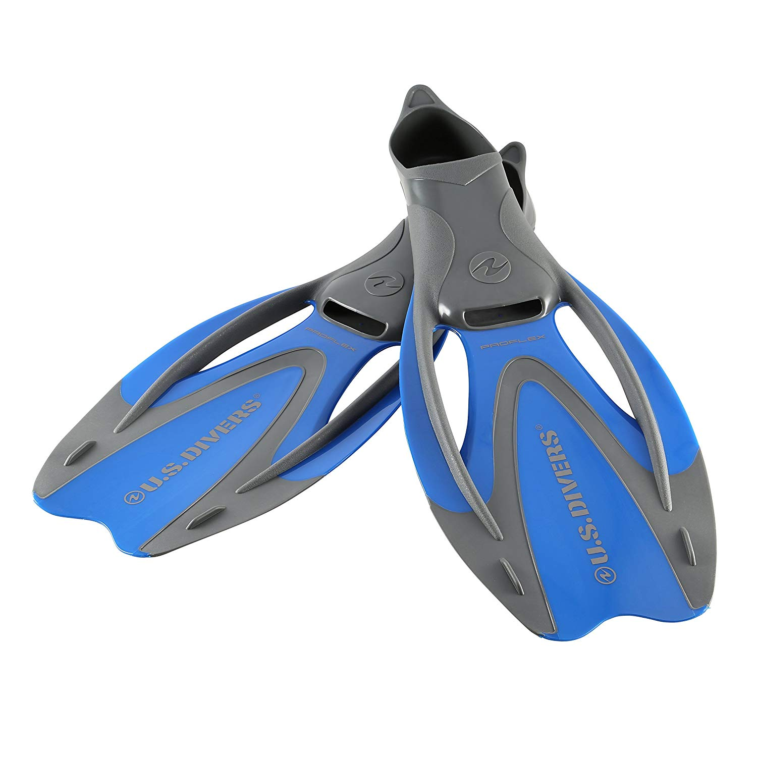 U.S. Divers Proflex Diving Fins l, Blue, Large 9 5-11 5
