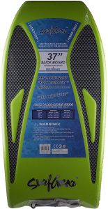 Heat Sealed Slick Bottom Body Surfing Body Board with Deluxe Coil Leash and Hand Grips